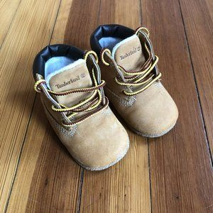 INFANT SIZE 2 TIMBERLAND WHEAT LEATHER SOFT BOTTOM